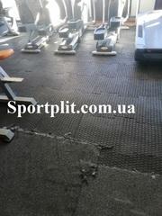 Резиновое напольное покрытие для тренажерных залов и кроссфита