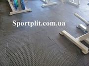 Резиновая плитка для тренажерного зала.