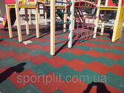 Травмобезопасная  резиновая плитка для детских площадок.
